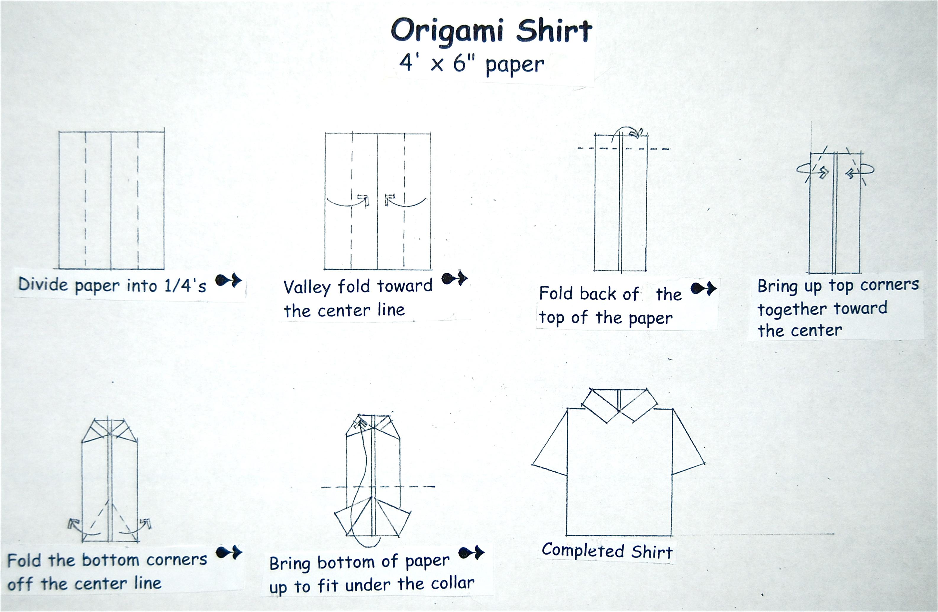 Поздравительная открытка в виде мужской рубашки - ольга николаевна константинова