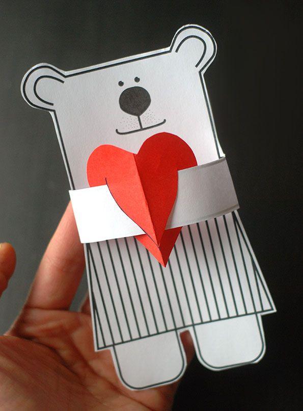 Шаблоны валентинок из бумаги (можно распечатать) – открытки и подарочные коробки