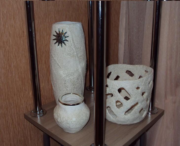 Изготовление напольной вазы в технике папье-маше