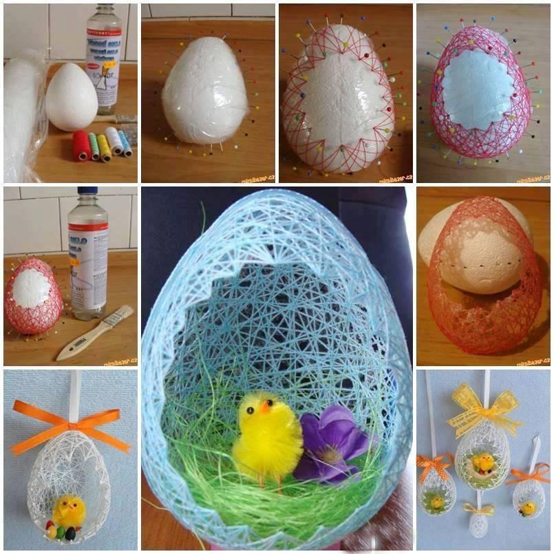 Яйца на пасху своими руками: поделка из ниток - сайт о рукоделии