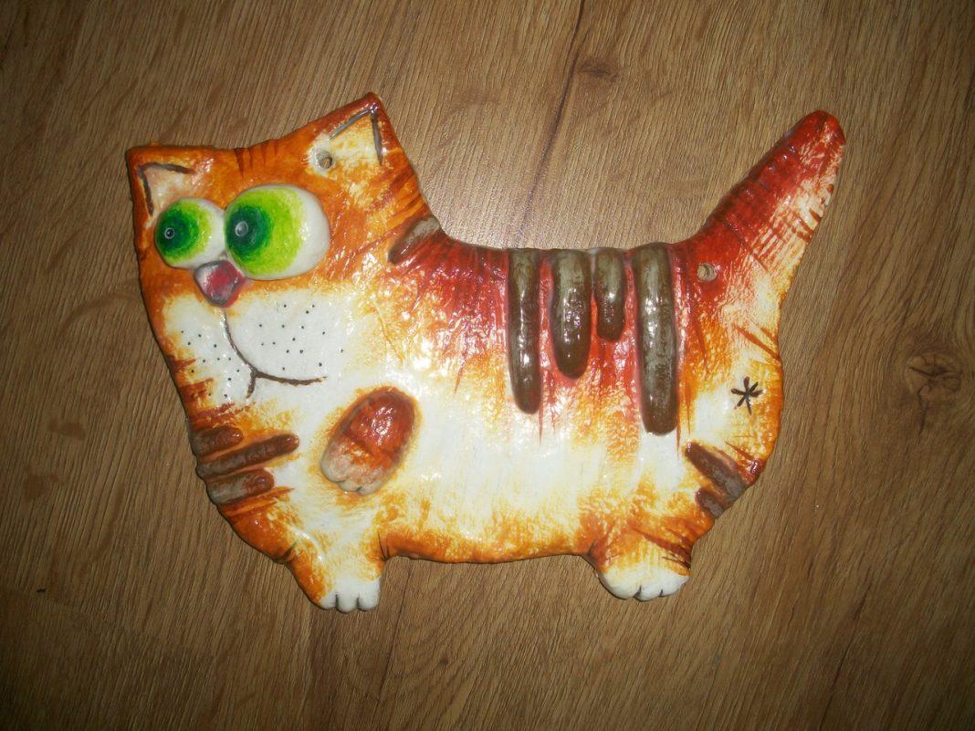 Кошка богатства из соленого теста