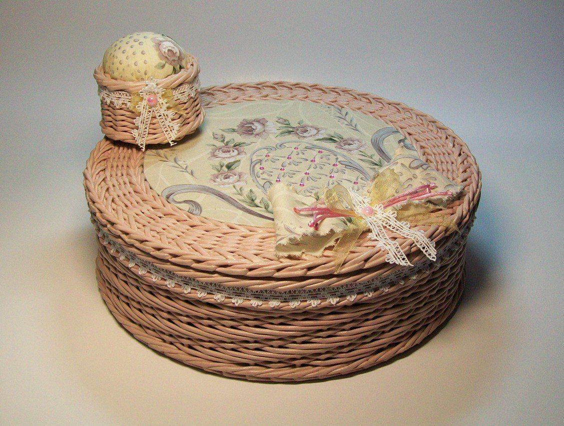 Декор предметов интерьер поделка изделие день рождения новый год рождество плетение шкатулки плетеные и не только  бумага картон гофрированный трубочки бумажные