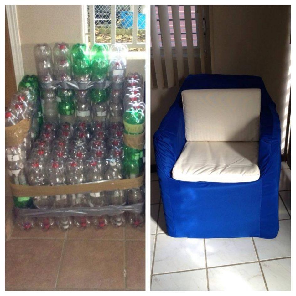 Кресло из пластиковых бутылок своими руками, пошаговый мастер-класс