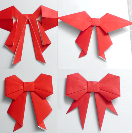Как изготовить бантик из бумаги для оформления подарка