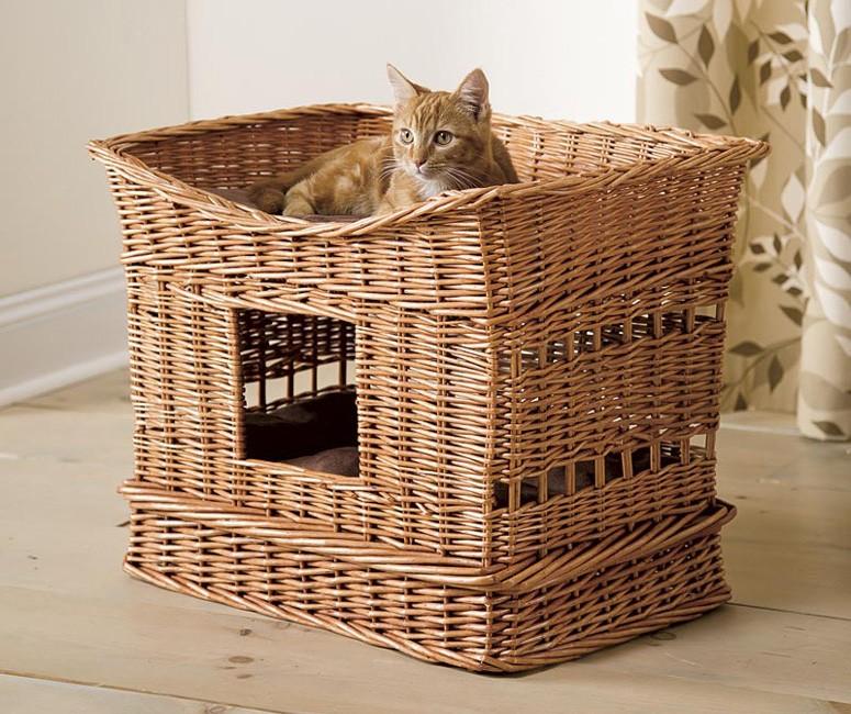 Домик для кошки своими руками +80 фото и пошаговые инструкции
