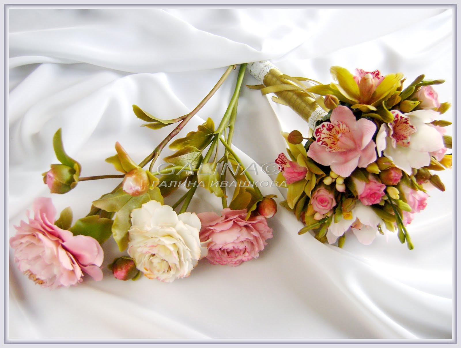 Изготовление цветов из холодного фарфора