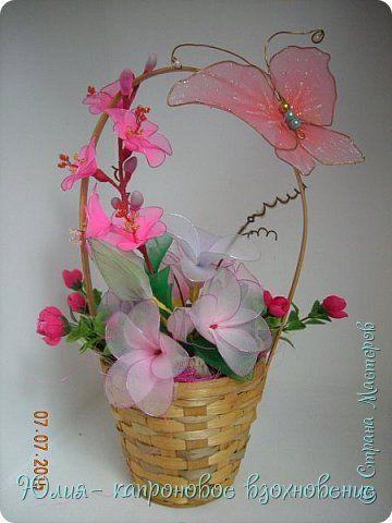 Мастер-класс флористика искусственная 8 марта день матери день рождения день учителя моделирование конструирование мастер-класс орхидеи из капрона гипс цемент капрон нитки проволока