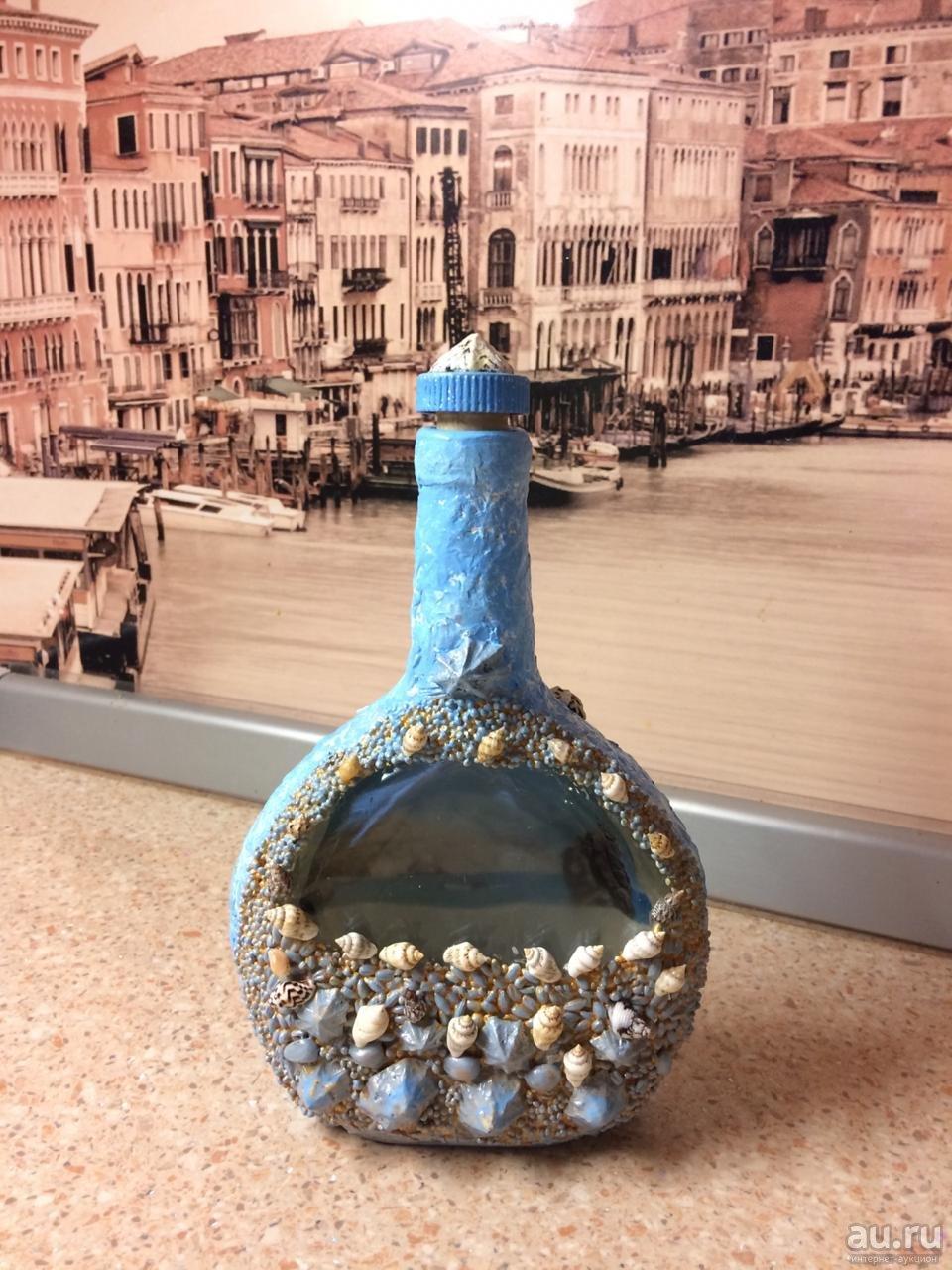 Декоративная бутылка «воспоминания о море. декор бутылок в морском стиле своими руками