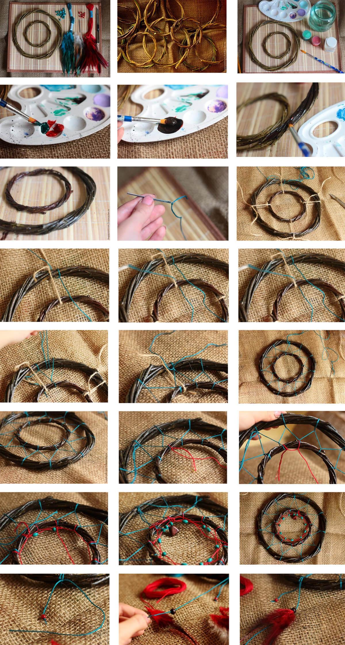 Ловец снов своими руками: 8 идей как сделать, пошаговые фото и видео