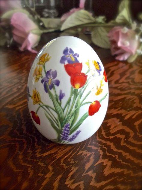 Вальс цветов на пасхальном яйце - своими руками