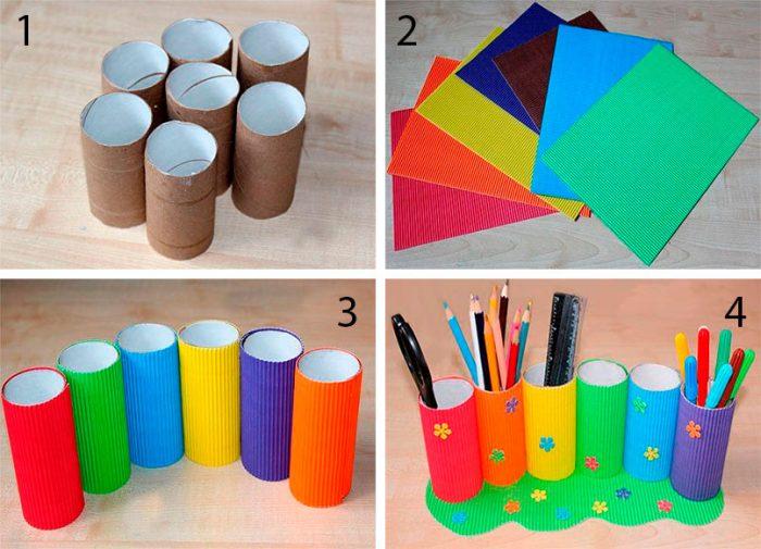 Карандашницы своими руками из подручных материалов. карандашницы из пластиковых бутылок. ящик для хранения мелочей своими руками