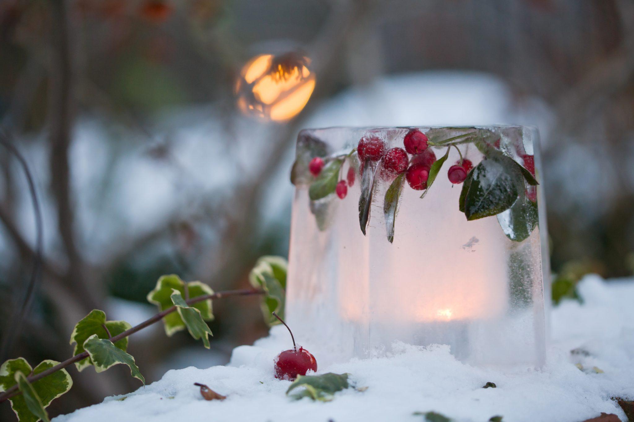 Ледяной подсвечник. | страна мастеров