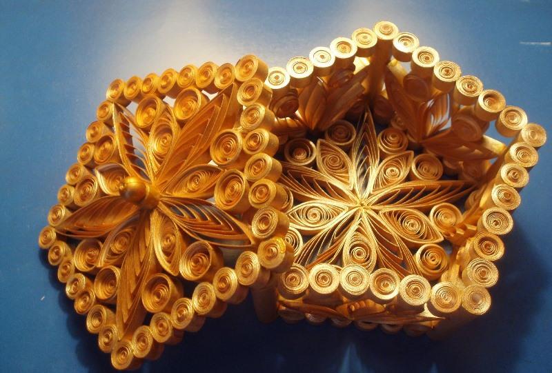 Поделка изделие квиллинг шкатулка в технике квиллинг бумага