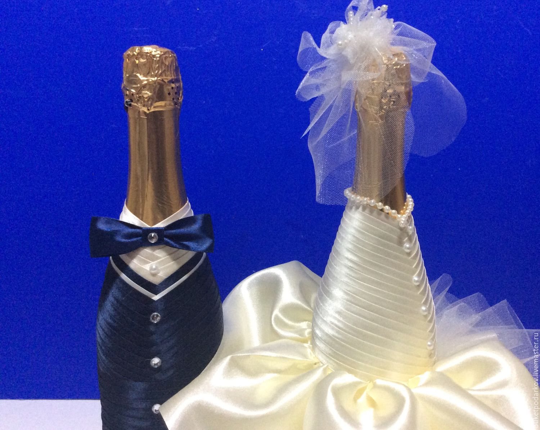 Свадебные бутылки своими руками (фото+видео)