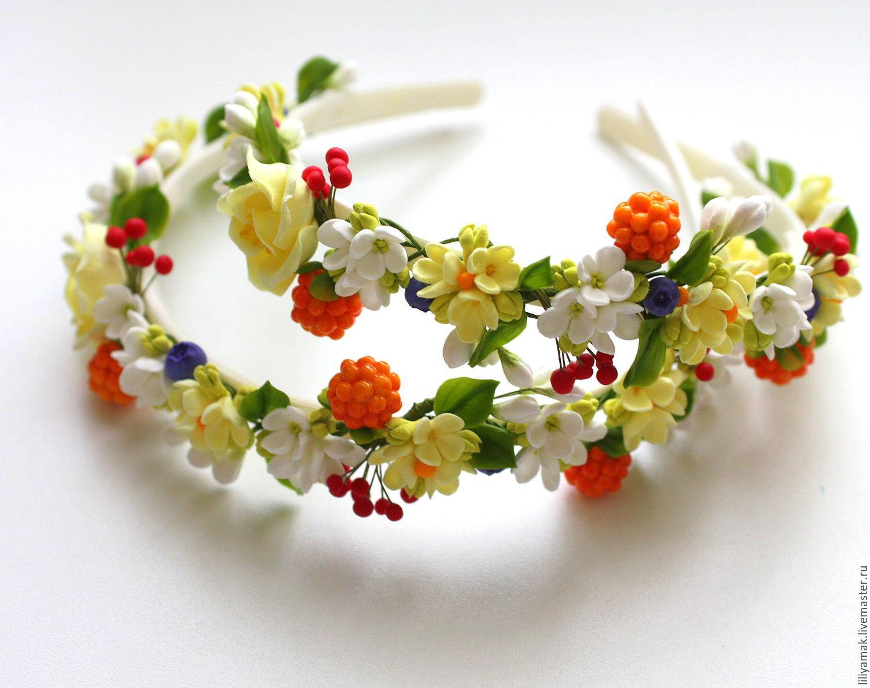 Ободок своими руками с ягодами – делаем ягодный ободок своими руками – ярмарка мастеров