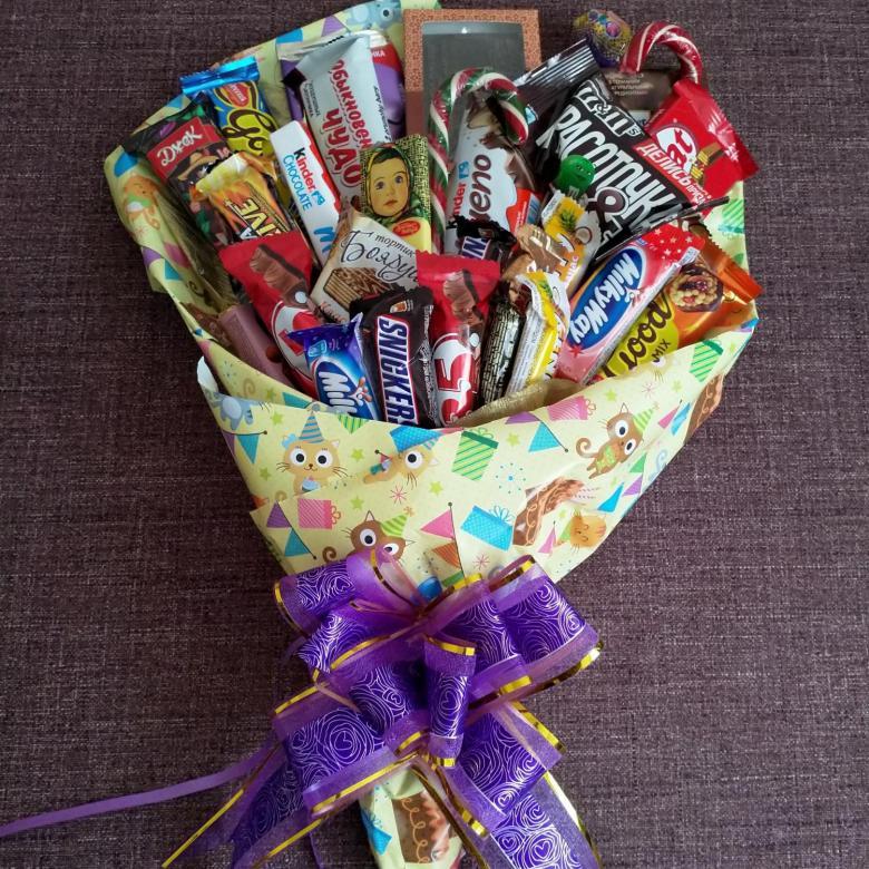 Букет из конфет – 105 фото + инструкция как сделать красивый и оригинальный сладкий букет