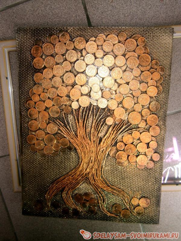 Картина из монет своими руками: создаем эксклюзивное панно с денежным деревом