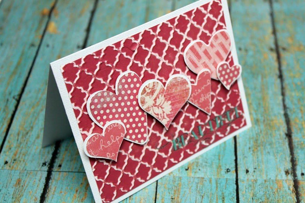 Валентинки своими руками из бумаги и картона с шаблонами