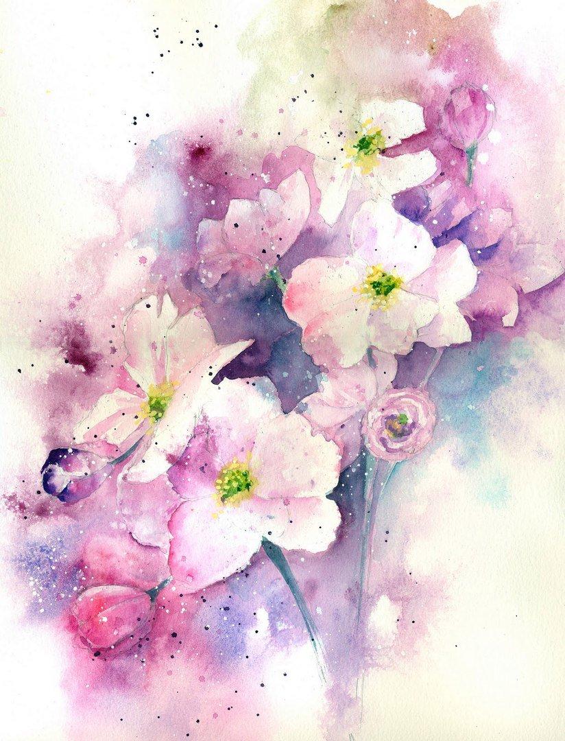 Розовые цветы с лепестками, акварельная живопись рисунок тату акварельные цветы, цветок png | hotpng