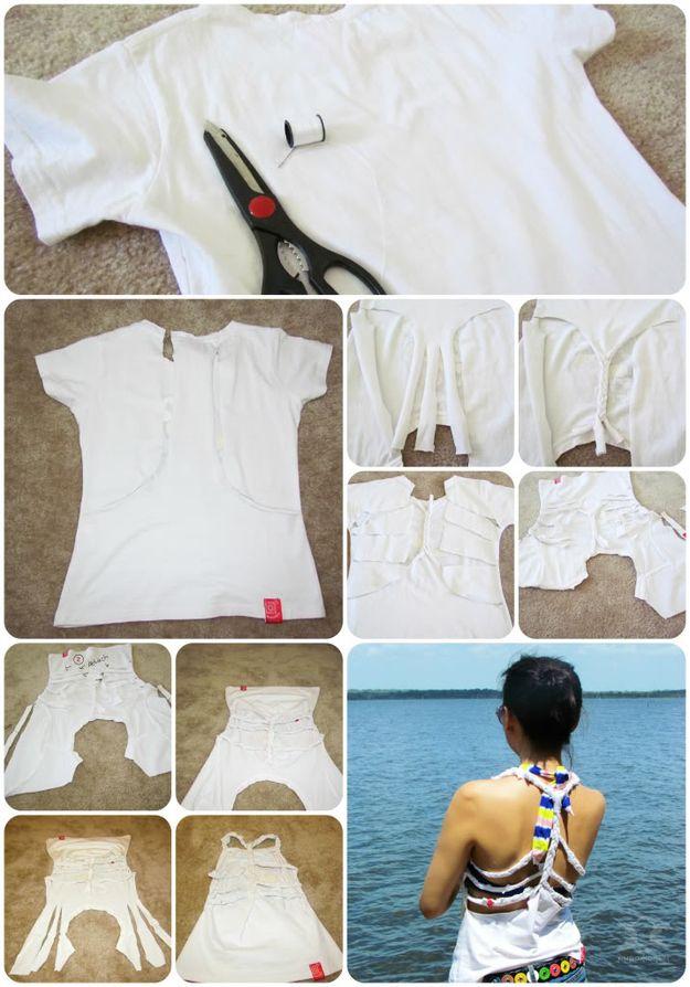 15 способов переделать старую футболку для лета :: инфониак