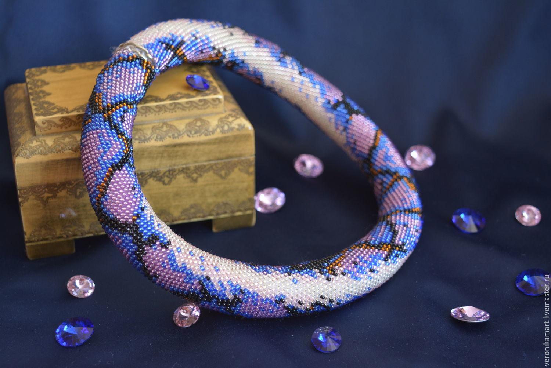 Схема плетения шнурка из бисера с подробным описанием