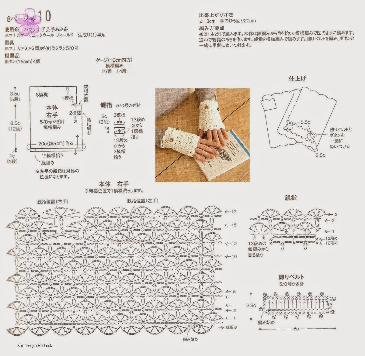 Перчатки крючком, 16 моделей с описанием и видео уроками