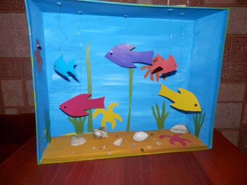 «аквариум с рыбками». мастер-класс. воспитателям детских садов, школьным учителям и педагогам