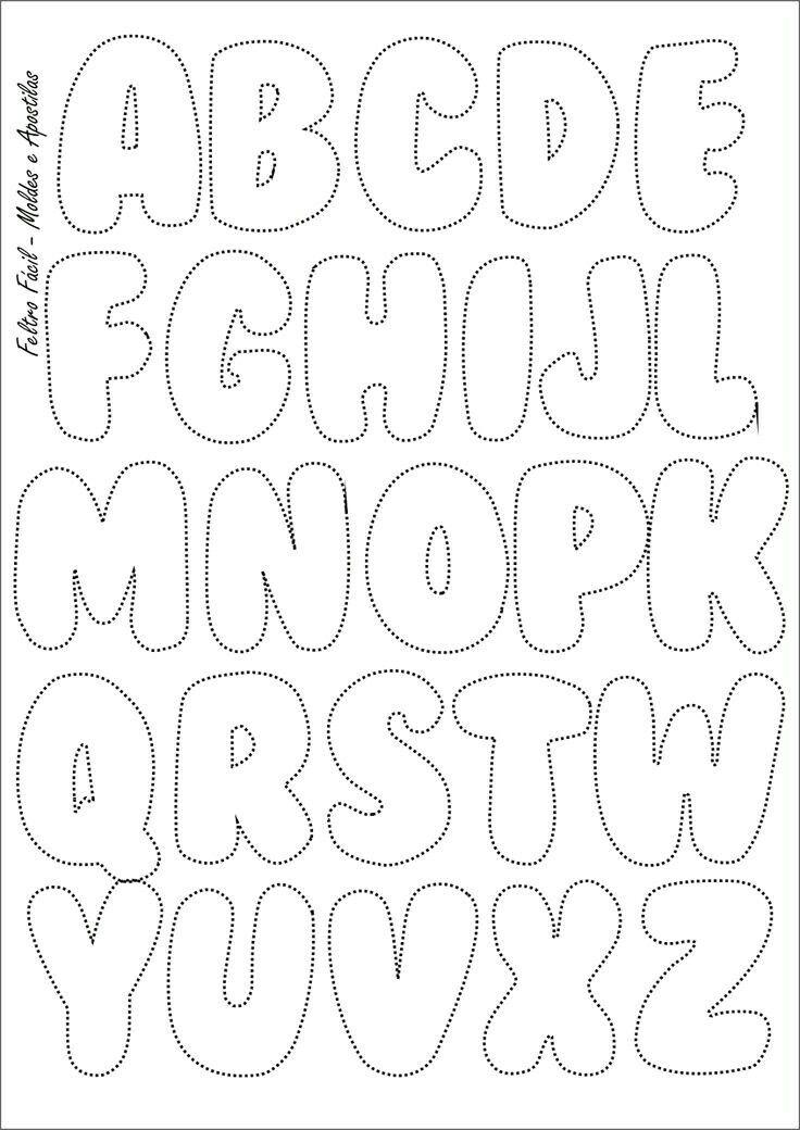 Яркий алфавит из фетра: выкройка своими руками