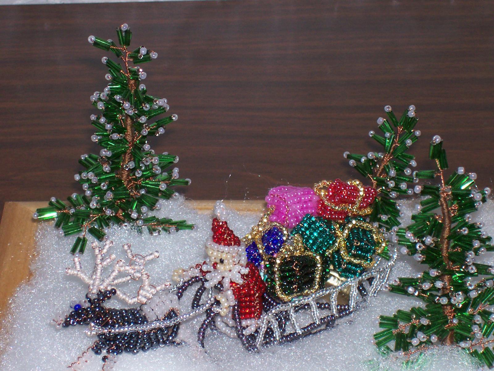 Схемы снежинок из бисера своими руками, снегурочка из бисера и другие объемные поделки
