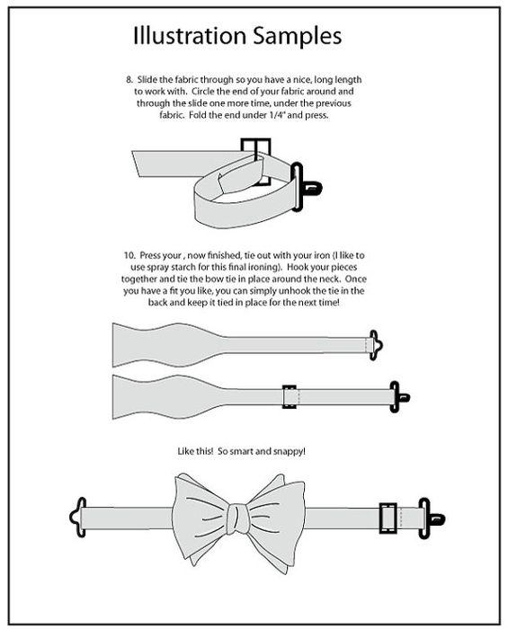 Мастер-класс галстука-бабочки своими руками: немного из истории, материалы для изделия, тонкости шитья
