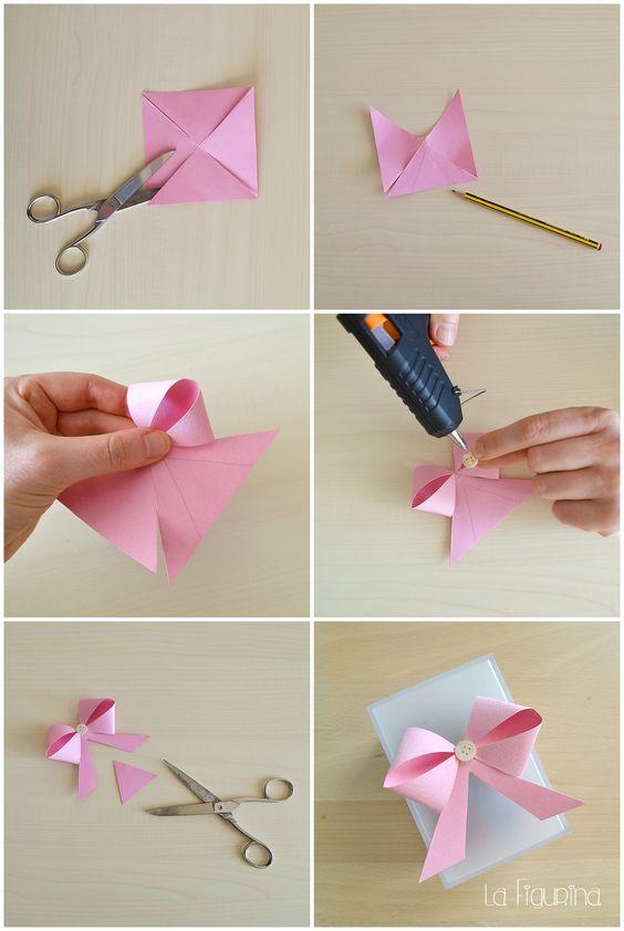 Как сделать бантик из бумаги – схема и пошаговый мастер-класс с фото и видео