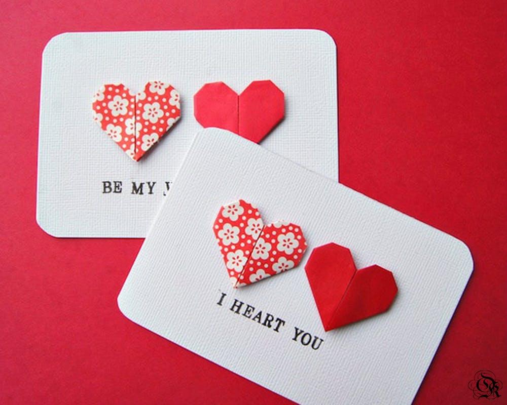 Валентинки своими руками: пошаговые схемы
