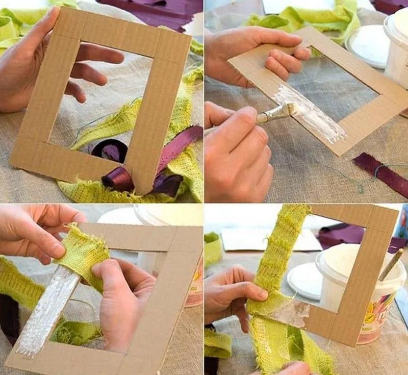 Как сделать рамку для картины своими руками? выбор дизайна и размеров. инструкция к изготовлению из подручных материалов: картона, плинтуса, газет, пуговиц