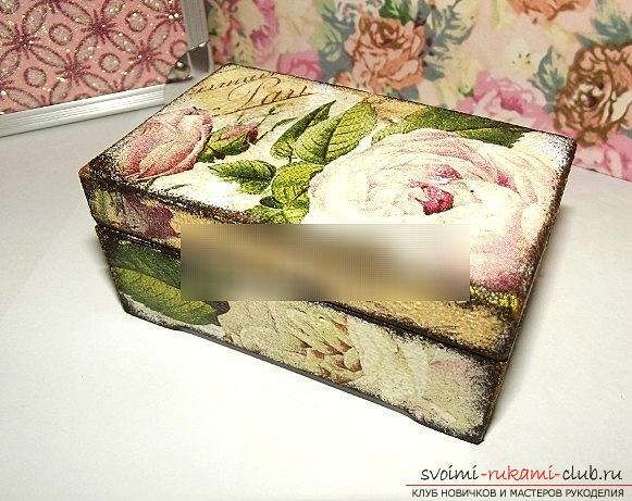 Красивый декупаж картонной коробки – мастер-класс по изготовлению своими руками стильных и подарочных коробок (180 фото-идей и видео инструкции)