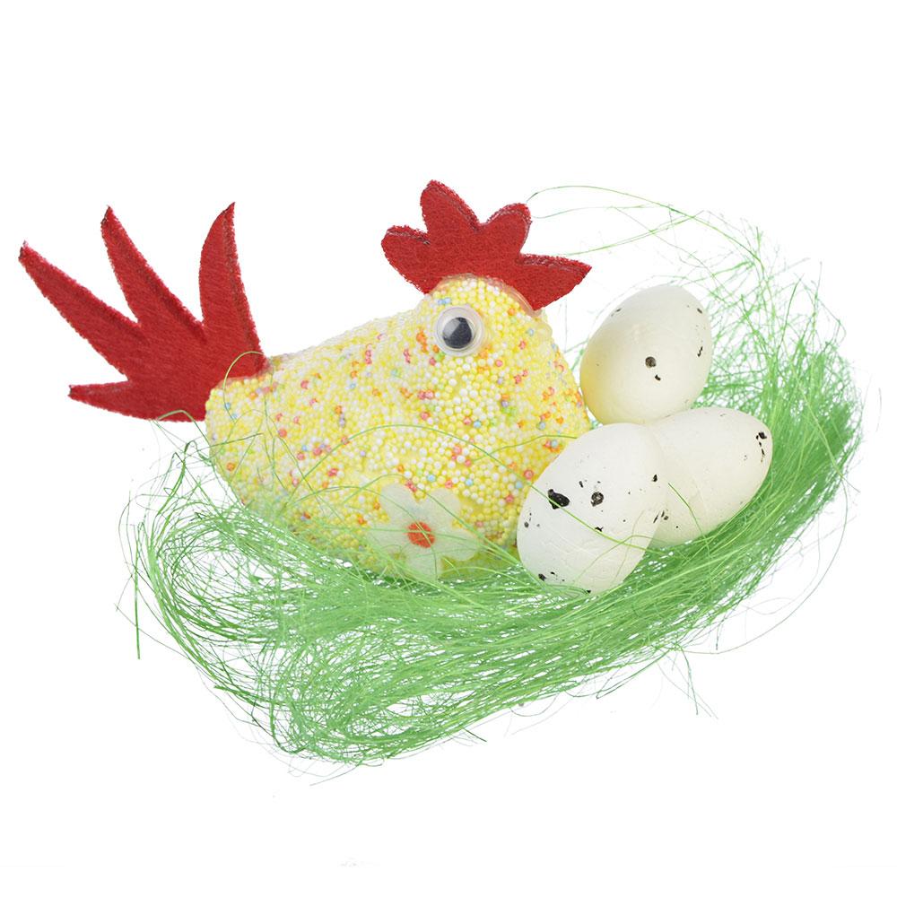 Пасхальная курочка - корзинка для яиц из ткани | слияние стилей