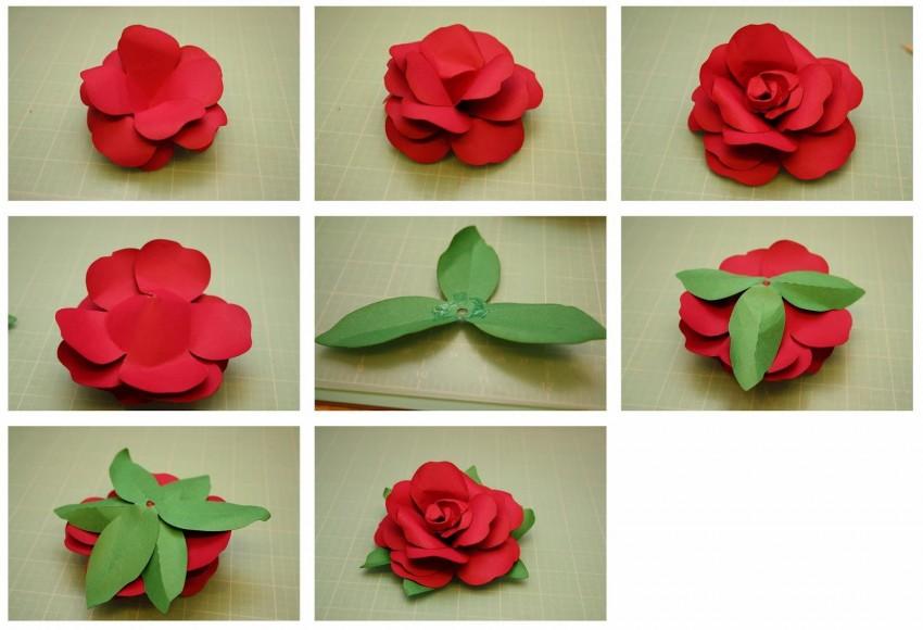 Бутоны роз из гофрированной бумаги с конфетами: 3 способа