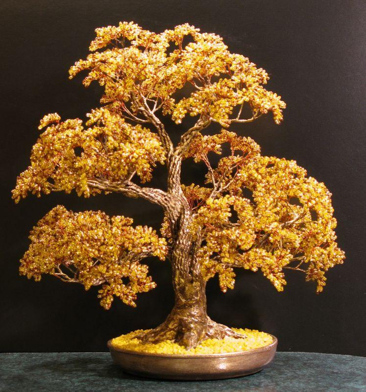 Деревья из бисера: материалы, схемы, техники плетения для начинающих, мастер-класс с пошаговыми фото, денежное дерево своими руками