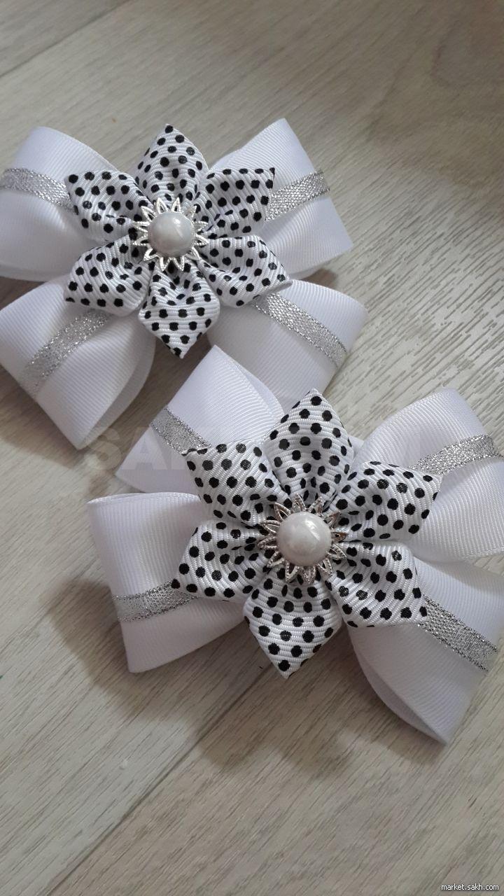 5 легких способов сделать резиночки для волос: роскошный бант, белый цветок своими руками