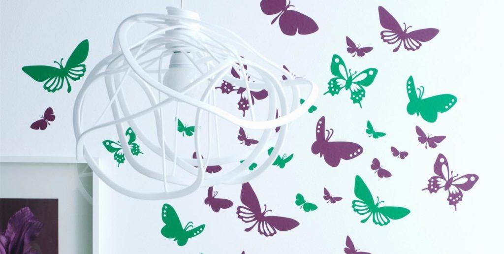 Бабочки на стену: 100 фото стильных вариантов оформления стен при помощи бабочек
