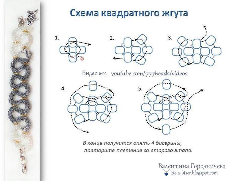 Турецкий жгут из бисера стекляруса и бусин. подробный урок и описание.