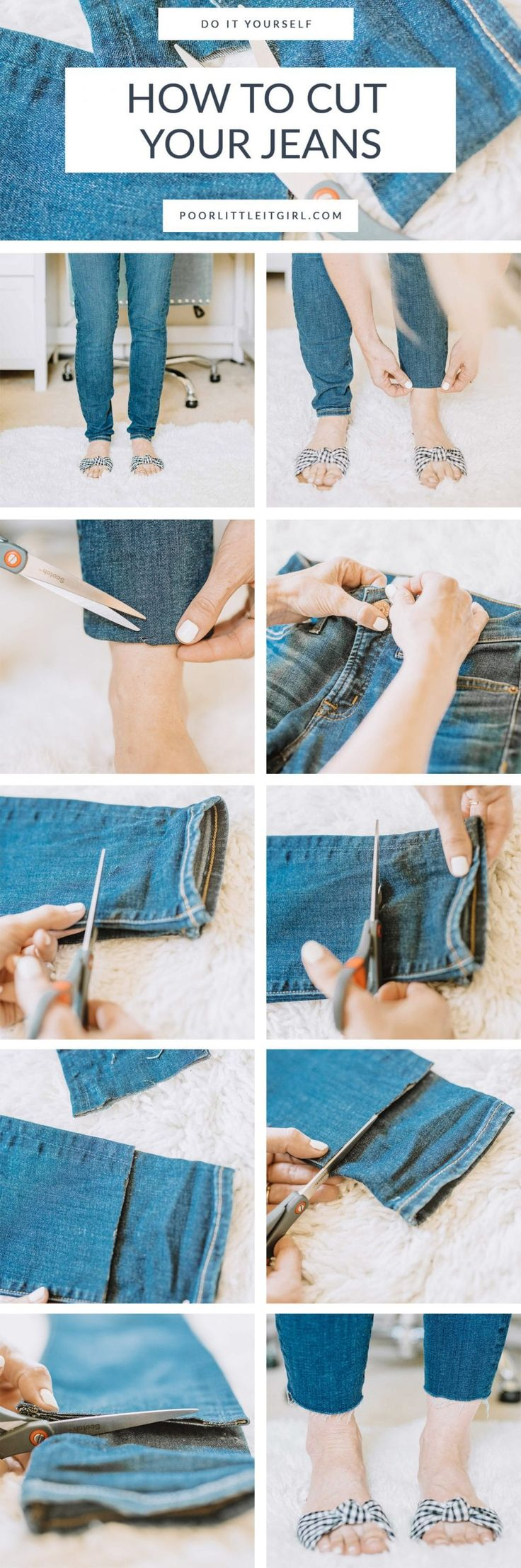 Как правильно подшить джинсы вручную без машинки