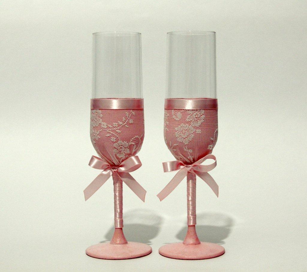 Украшения свадебных бокалов розами из пластики. свадебные бокалы своими руками пошаговое фото