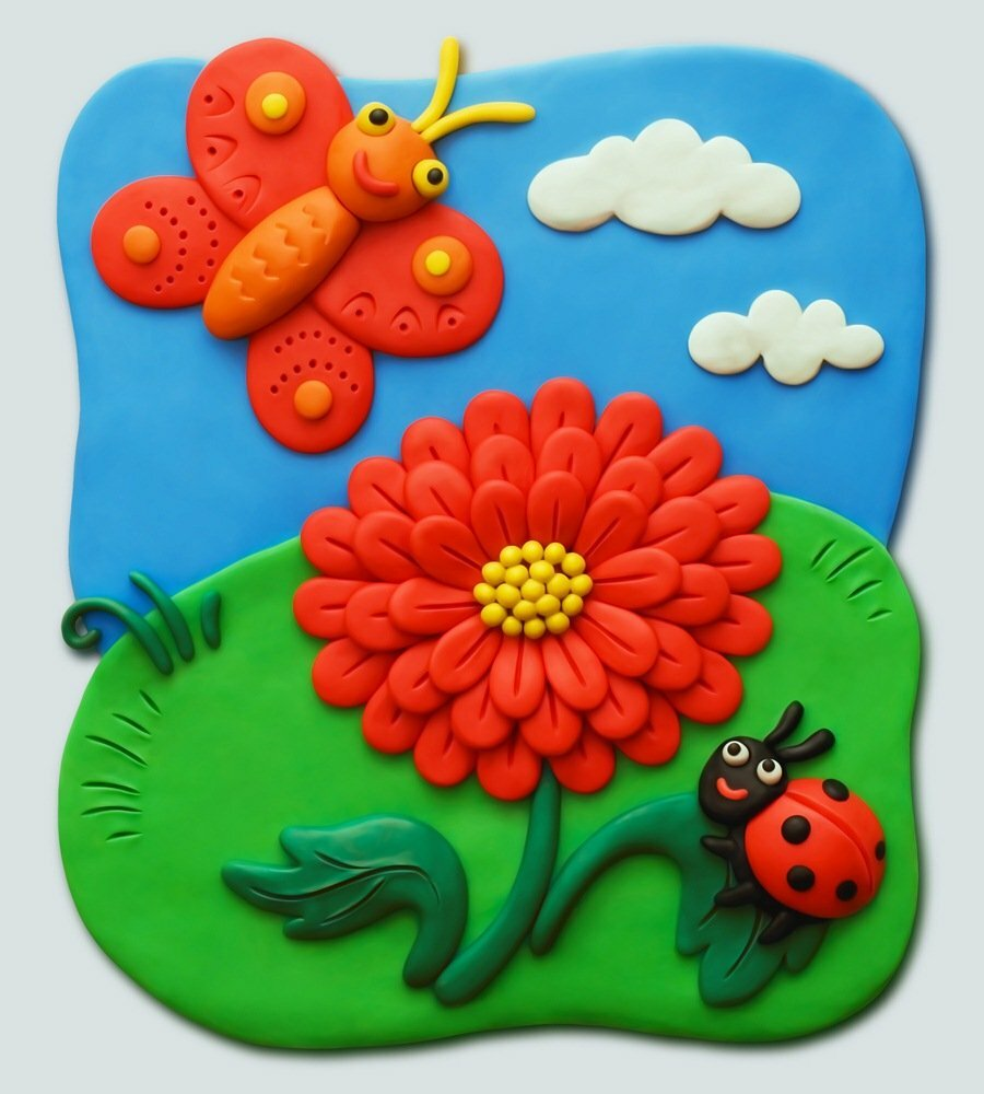 Картины из пластилина: техника, примеры, инструкции и мастер-классы по пластилинографии для детей.