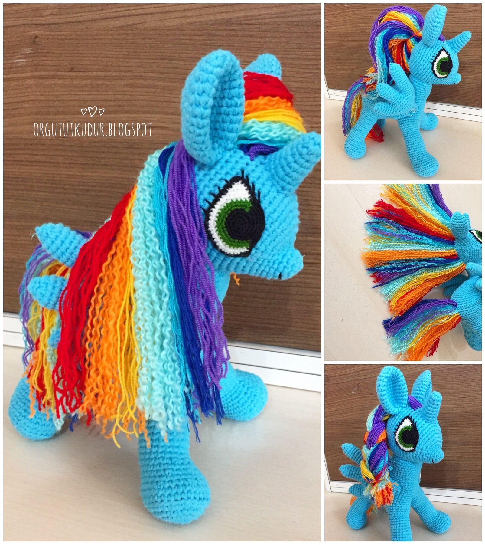 Лошадка-пони вязанная крючком