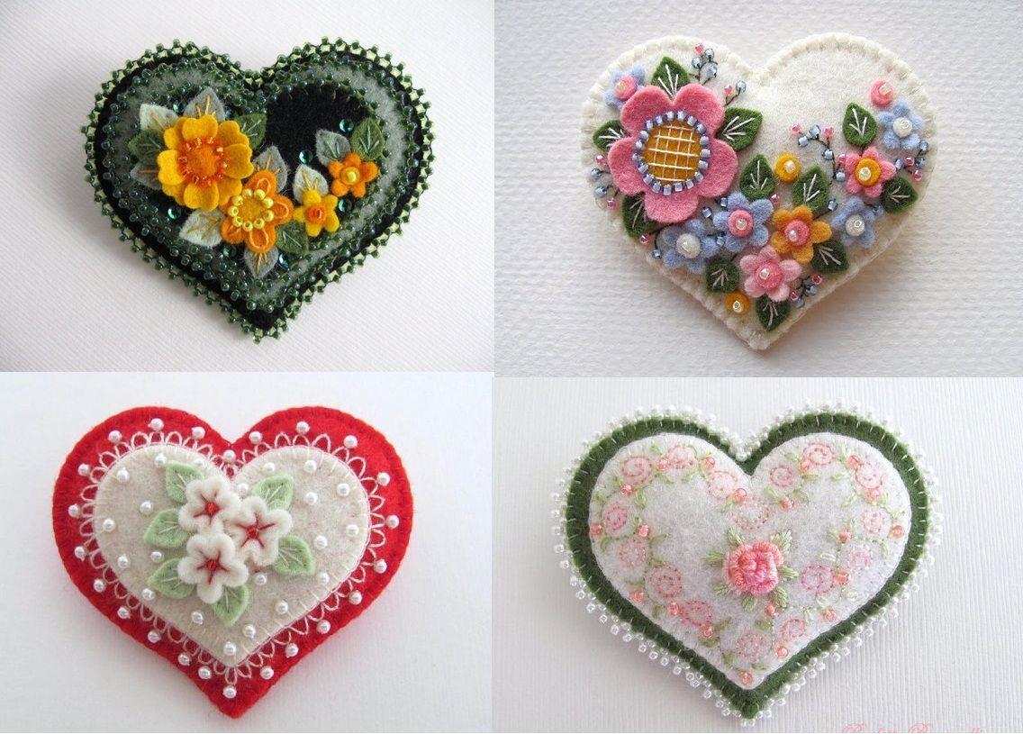 Сердечки из ткани своими руками: валентинки для второй половинки! | крестик