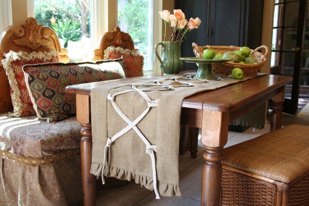 Салфетки в деревенском стиле — своими руками