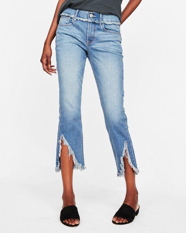 Как обрезать и подшить джинсы