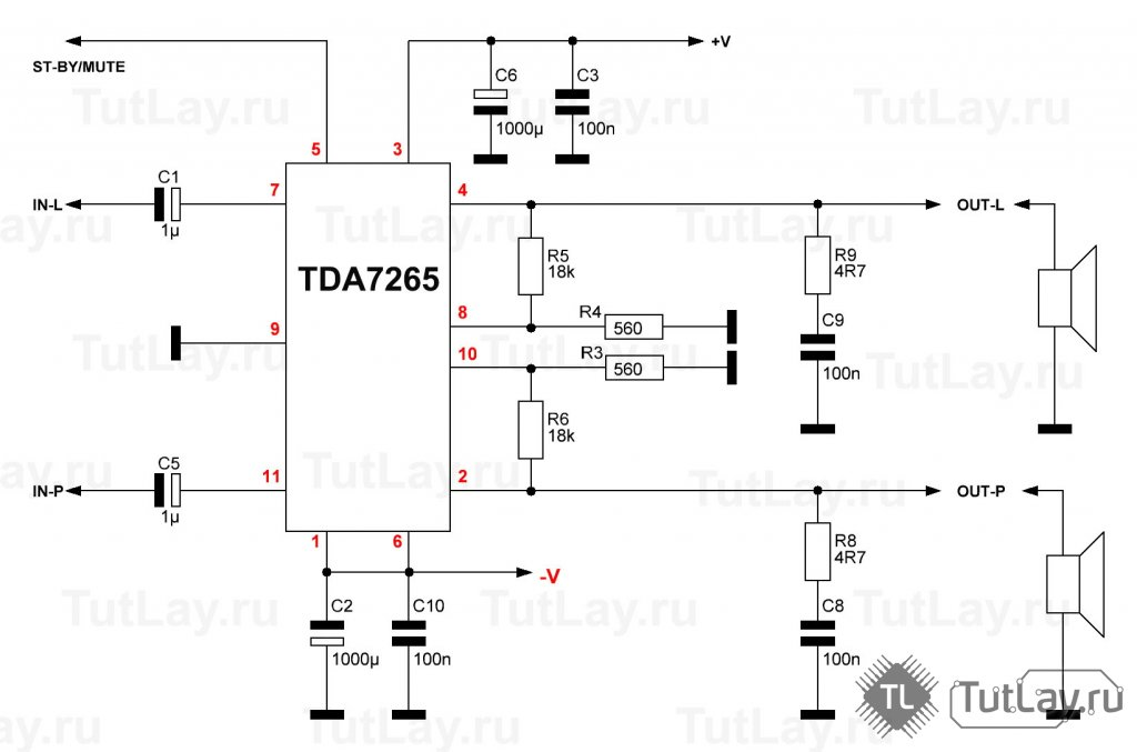 ⚡️стереоусилитель на микросхеме tda7496sa | radiochipi.ru