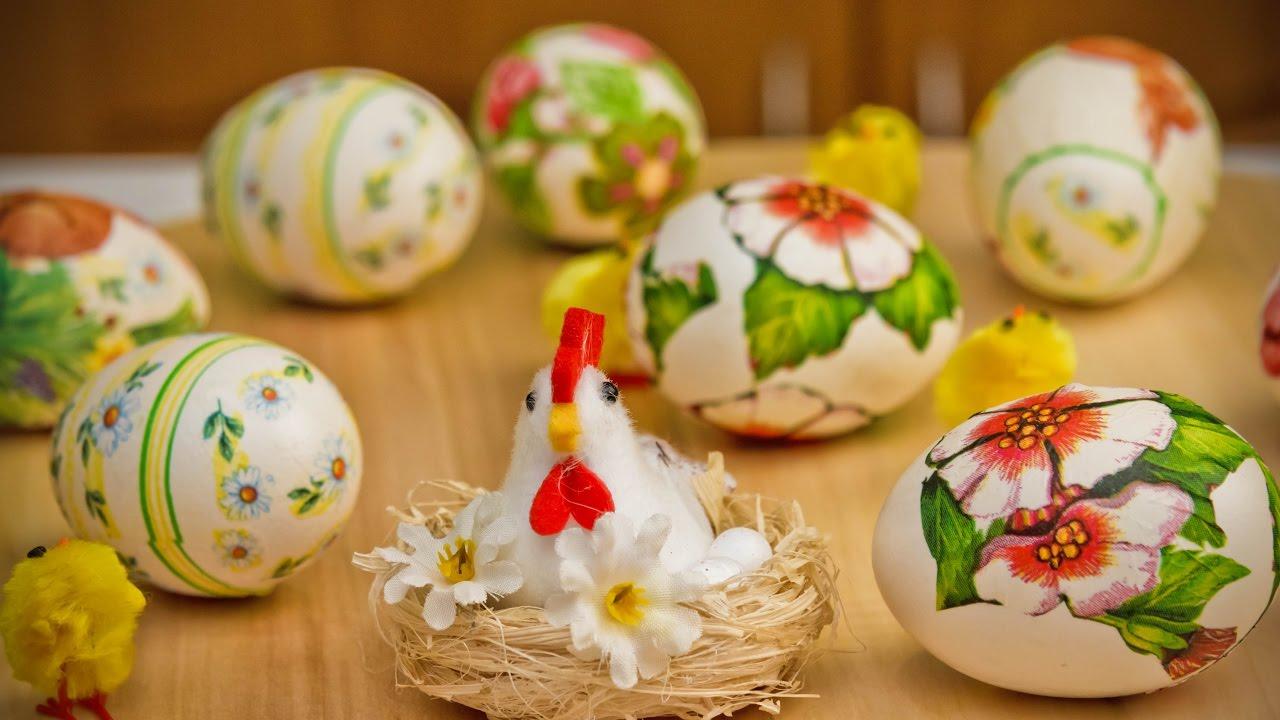 Декупаж яиц к пасхе своими руками (фото и видео)