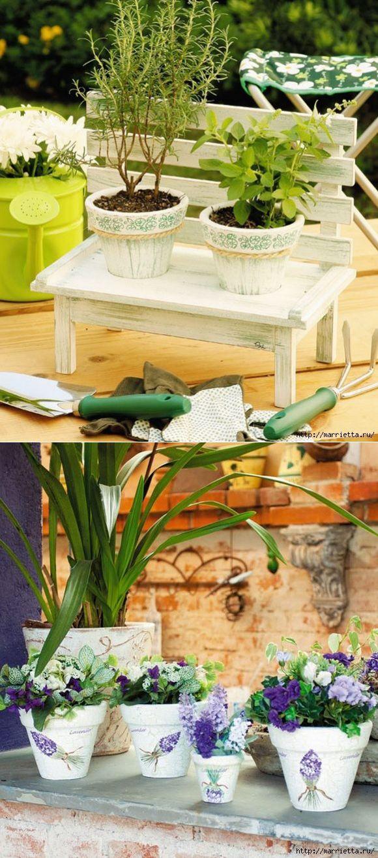 Декоративные горшки для цветов - мастер-класс с фото по созданию вазона